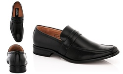 ADOLFO Men's Dress Shoes Slip-on Aldo-1 - Black - Size: 9