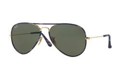 Ray-Ban Unisex Aviator Sunglasses - Blue Camo Frame/Green Lens - 58mm