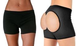Sayfut Women's Butt Lifting Underwear - Black - Size: Large
