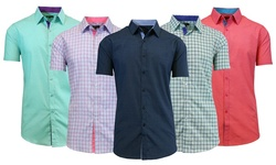 Galaxy By Harvic Men's Short Sleeve Shirts - Pattern 23 - Size: Large