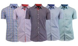 MSS-111 MT-LB Men's Short Sleeve Button Down Pattern 6 - L