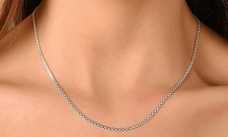 SEVIL Italian Sterling Silver Bismark Chain Necklace