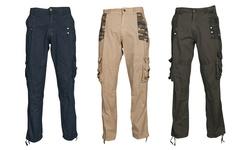 Vertical Sport Men's Camo Cargo Pants - Navy - Size: 42-32