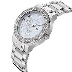 Timothy Stone Faon Women's Watch with Swarovski Elements - Silver