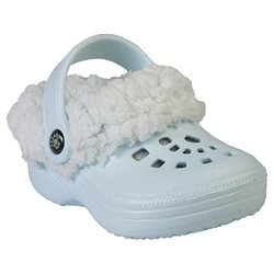 Double Diamond Fleece Dawgs Clogs Baby Shoes - Baby/Blue - Size: 5-6