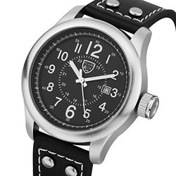 Picard & Cie Stellihorn Men's Watch - Black Leather Strap