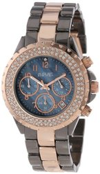 August Steiner Women's AS8031TTR Crystal Mother-Of-Pearl Chronograph Bracelet Watch