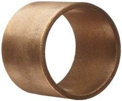 "BostBronz 1.753"" Bore 2.129"" OD 1.5""L Plain Cylindrical Sleeve Bearing"