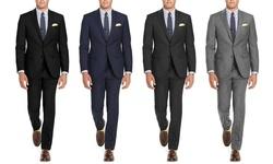 Renoir Men's Classic Fit Suits: Dark Grey/44Lx38W