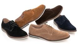 Adolfo Oxford Men's Shoes Lace-up Oxford-2 - Black Suede - Size: 10.5