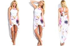 Leo Rosi Women's Sophie High Low Dress - Floral - Size: Medium