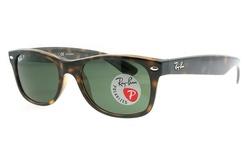 Ray-Ban Wayfarer Polarized Sunglasses - Tortoise/Crystal Green