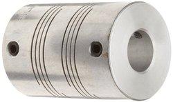 Ruland Screw Beam Coupling - Polished Aluminum - Size: 5mm