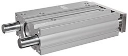 SMC MGPM16-20 Aluminum Air Cylinder with Guide Rod Plate