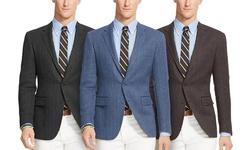 Renoir Men's Classic Fit 100% Wool Blazer: Charcoal Brown/36S