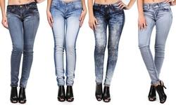 VIP Jean Women's Skinny Leg Denim - Blue - Size: M
