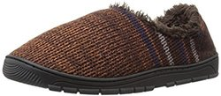 Muk Luks Men's John Slippers: Brown / Small