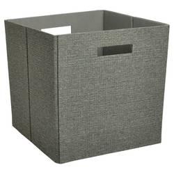 "Threshold Fashion Cube Storage Bin - Grey - Size: 13"""