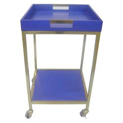 """Threshold Bar Cart with Square Tray - Blue - Size: 18""""x18"""""""