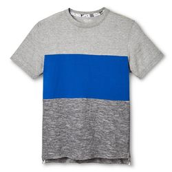 Mossimo Boy's Dip Dye Tee Shirt - Gray/Blue - Size: Large