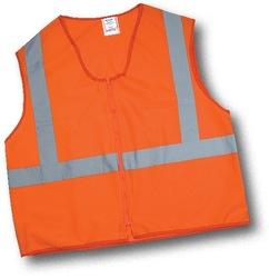 Mutual Unisex 2 Mesh Flame Retardant Safety Vest - Orange - Size: 2XL