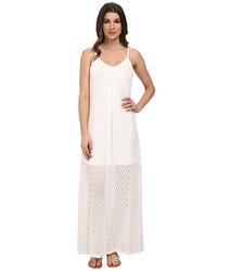 Calvin Klein Women's Slip Strap Maxi Dress - White - Size: 10