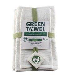 Enova Eco Green 3 piece Bath Towel Set - White - Size: One Size