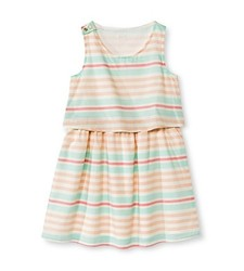 Cherokee Girl's Floral Print Dress - White - Size: X-Small