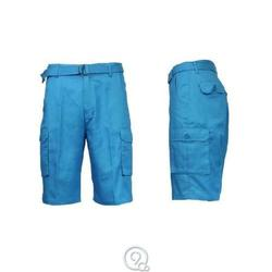 Galaxy By Harvic Men's Belted Cargo Shorts - Blue - Size: 42