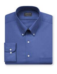 Arrow Men's Solid Color Dress Shirt - Blue - Size: Medium