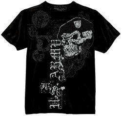 US Army Skull with Beret Black T-shirt, Men's Size XL