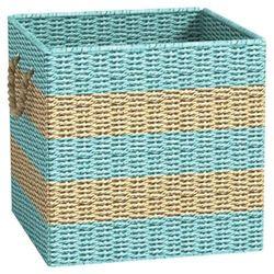 Metro Ashley Cube Storage Basket - Light Blue