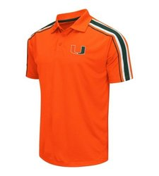Colosseum Men's University of Miami Hurricanes Polo T Shirt - Orange