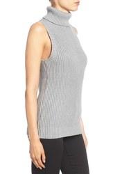 Michael Kors Women's Shaker Knit Turtleneck Sweater - Grey - Size: Medium