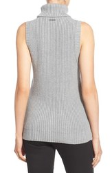 Michael Kors Women's Shaker Knit Turtleneck Sweater - Grey - Size: S