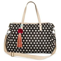 Mossimo Women's Polka Dot Weekender Handbag - Black