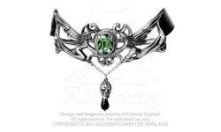 Alchemy Gothic Unisex La Fleur de Baudelaire Choker Nacklace