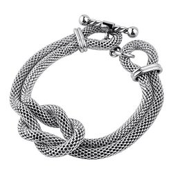 Women's Stainless Steel Double Mesh Chain Hercules Bracelet