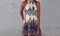 Kayamika Women's Paisley Pattern Dress - Multicolor - Size XL