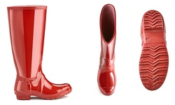 Sociology Women's Rain Boots - Red - Size: 6