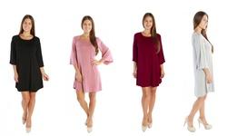 Nelly Women's Tunic Dress: Burgundy/1x