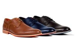 Tonys Casuals Plain Toe Derby Shoes: Navy/13