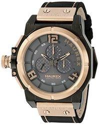 Haurex Italy Watches: 6n510unn Black Band/grey Dial