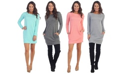 Classic Sweater Dress: Heather Grey/medium