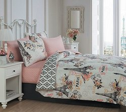 Avondale Manor Cherie 8-Piece Bed in a Bag Set - Coral - Size: King