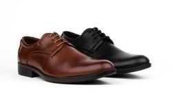 Royal Men's Plain Toe Oxford Dress Shoes: Black/11