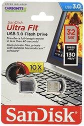 SanDisk Ultra Fit 32GB USB 3.0 Flash Drive Gray