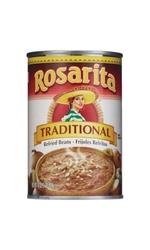 Rosarita Traditional Refried Beans Natural - 16 oz