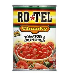 Ro-tel Chunky Diced Tomatoes & Green Chilies 12Pk - 10Oz Cans