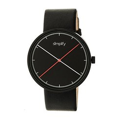 Simplify The 4100 Men'swatch: Sim4101 Black Band-black Dial